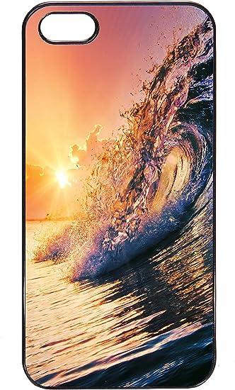Coque Iphone 5/5S - Vague surf couche de soleil - Ref 644