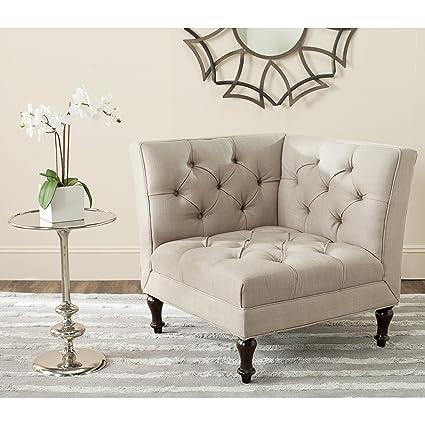 Amazon.com: Safavieh Mercer Collection Jack Corner Chair, Antique ...