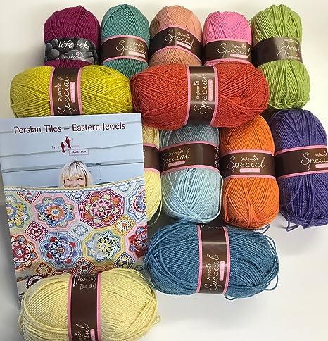 Oriental joyas manta lana Pack con carta de colores: Amazon.es: Hogar