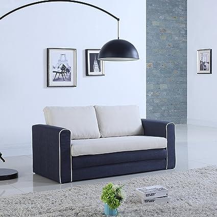 convertible furniture tiny house divano roma furniture modern tone modularconvertible sleeper dark bluebeige amazoncom