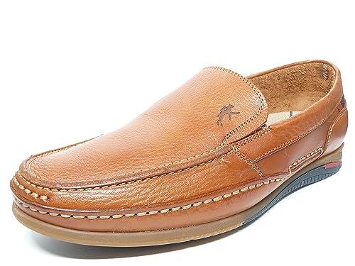 Fluchos Zapato Casual Hombre Tipo Mocasin, Elasticos Laterales EN Piel Cuero 8352-68 (
