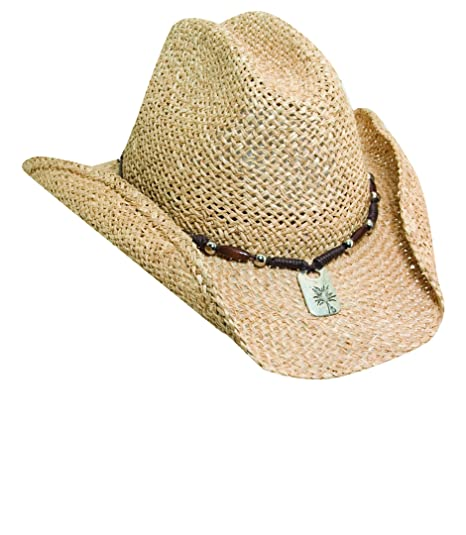 cd1df7ae9d6 Image Unavailable. Image not available for. Color  NEW BLUE CHAIR BAY KENNY  CHESNEY MOROCA STRAW NATURAL BREEZER WESTERN COWBOY HAT ...
