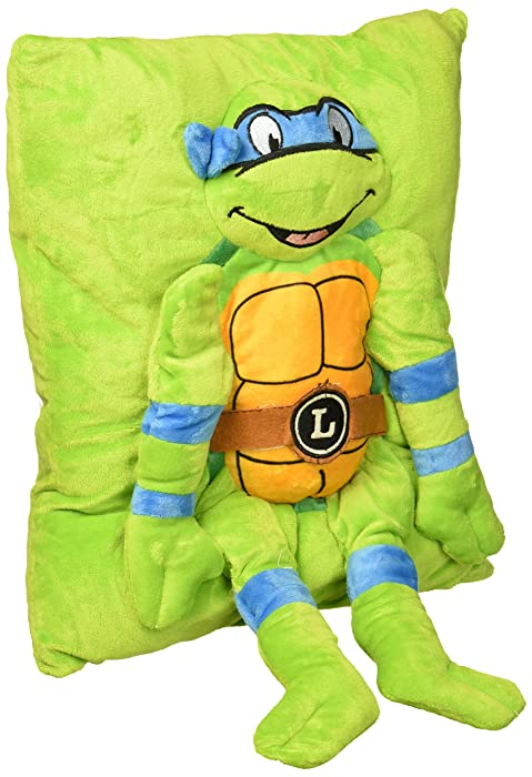Nickelodeon Teenage Mutant Ninja Turtles Retro Leonardo Plush Character Pillow
