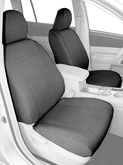 SportsTex CalTrend Middle Row Captain Chair Custom Fit Seat Cover for Select Toyota Sienna Models Light Grey