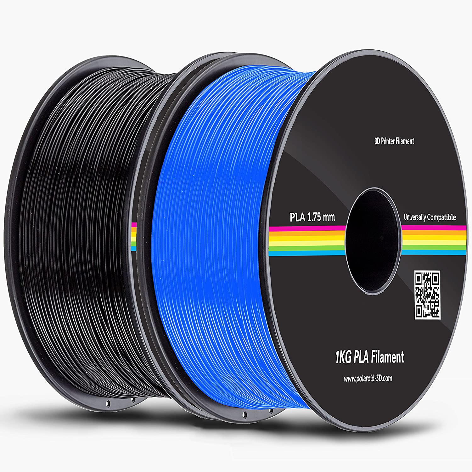 Amazon.com: Polaroid P3021100 2X Rolls 1.75 mm Pla Filament ...