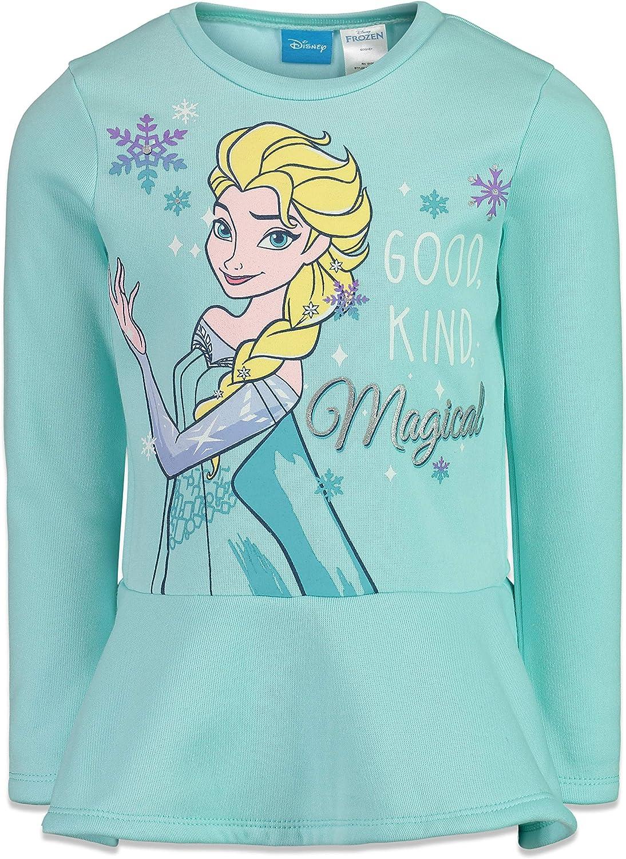 New Girls Disney Frozen Princess Long Sleeve Top T-shirt Size 4-10 Years