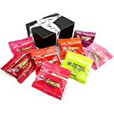 Honey Stinger Organic Energy Chews 8-Flavor Variety: One 1.8 oz Package Each in a BlackTie Box (8 Items Total)