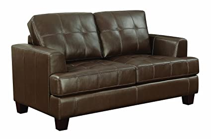 Awesome Coaster Home Furnishings 504079 Coaster Home Furnishsings Samuel Upholstered Loveseat Sleeper Dark Brown Unemploymentrelief Wooden Chair Designs For Living Room Unemploymentrelieforg