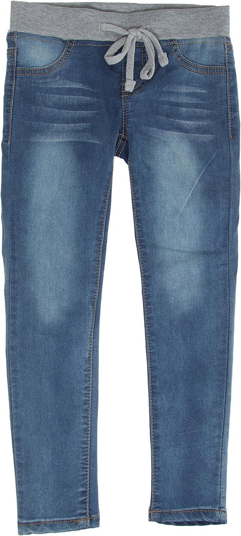 DG9-9K012 Girls' Premium Stretch 5 Pockets Patchwork Boy-fit Ripped Jeans S