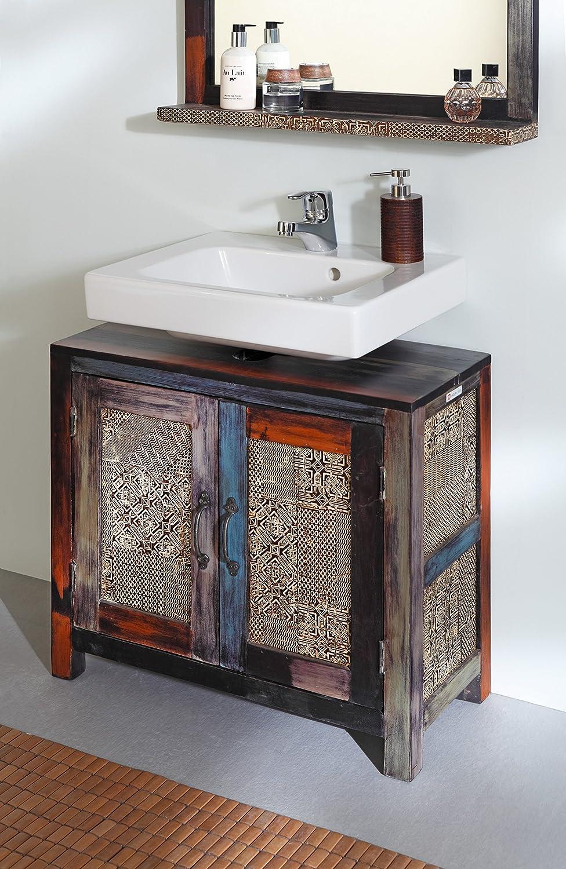 Wolf mbel meuble sous vasque goa multicolore amazonfr for Amazon lavabos