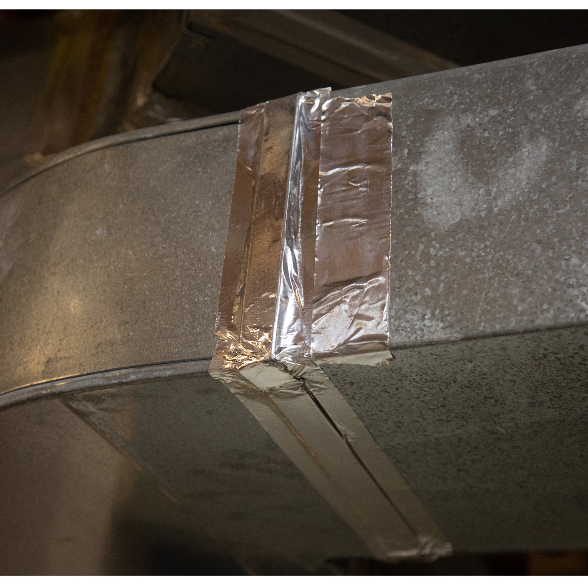 Aluminum Foil Tape Roll - 2 inch x 55 Yards Heavy Duty Tin Foil Duct Tape for HVAC by Iron Forge Tools (Image #3)