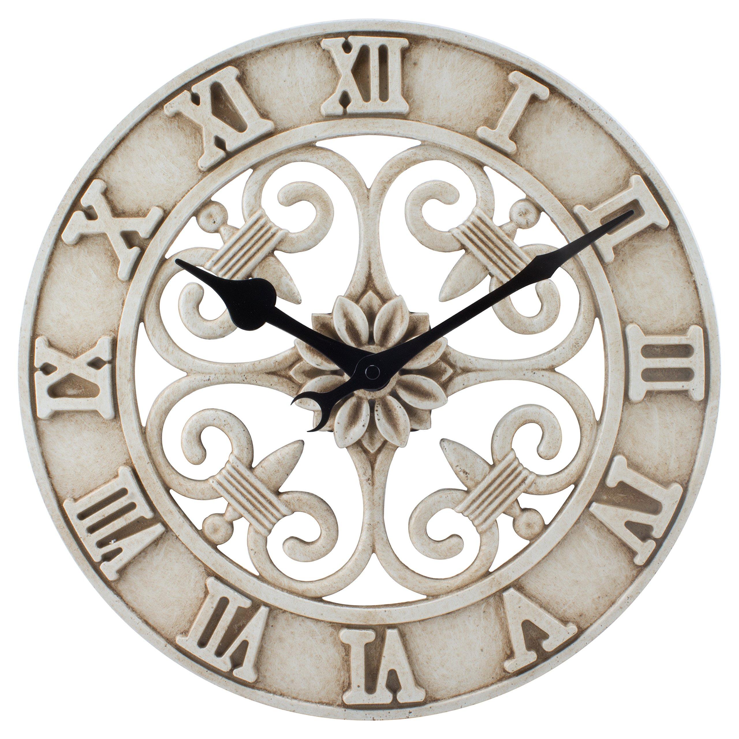 La Crosse Technology BBB86491 Cast Iron Indoor/Outdoor Wall Clock, 14''