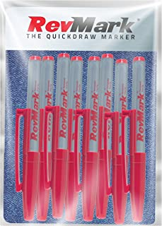 product image for RevMark Industrial Marker - Red Permanent Ink - Standard Tip - 8 Pack (Made in the USA) (Red)