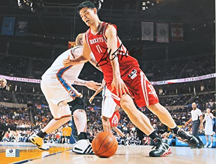 a10058639bd09 Yao Ming Houston Rockets Signed Autographed 11