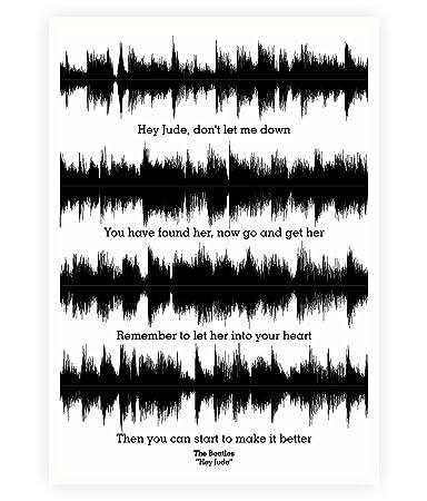 Amazoncom Lab No 4 The Beatles Hey Jude Lyrics Quotes Poster