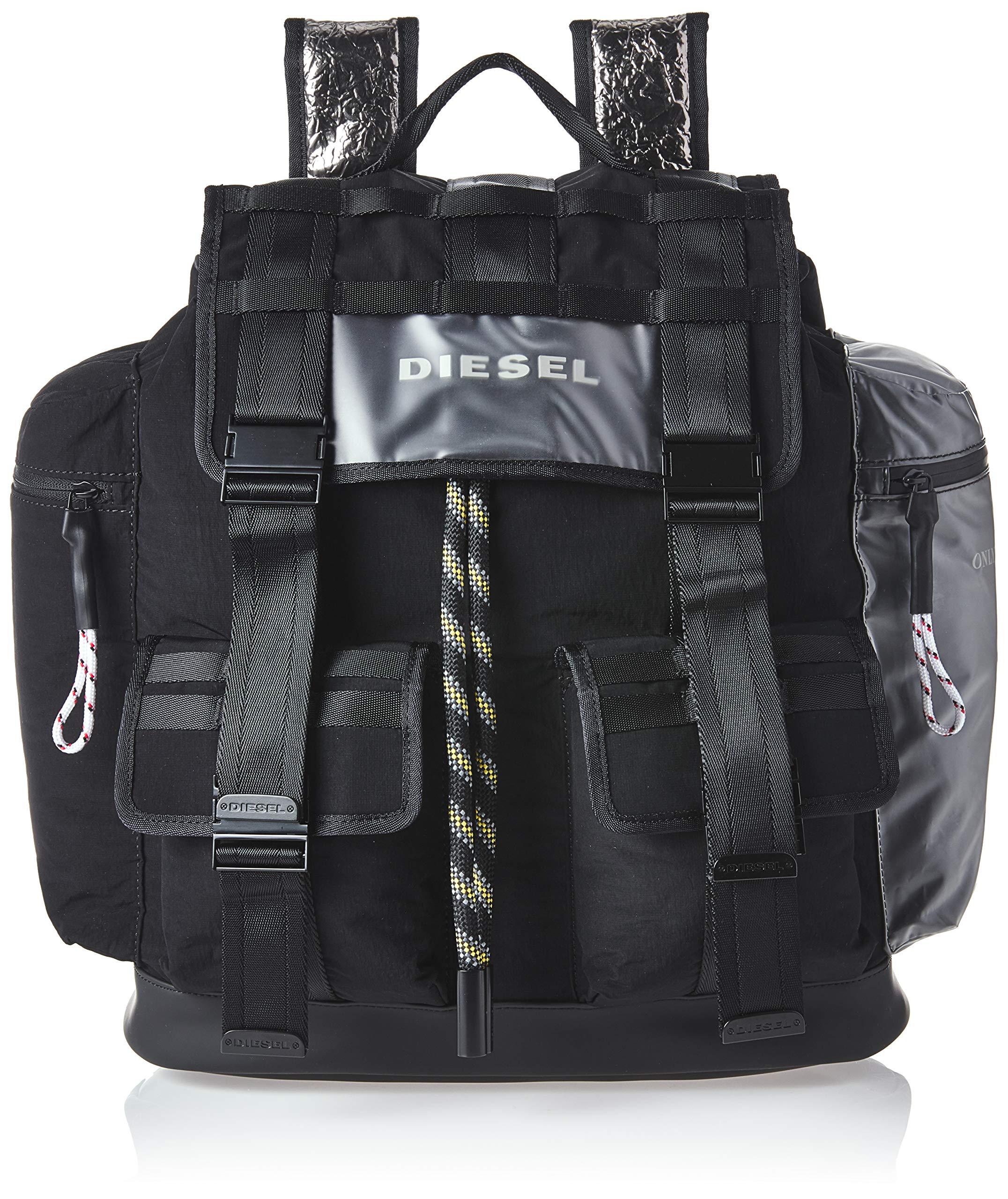 Diesel Men's M-CAGE Back-Backpack, Black/Black, UNI