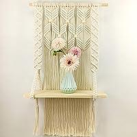 Handmade Macrame Wall Hanging Shelf Boho Indoor Rope Plant Hanger Holder Rope Plant Hanger (Style 1)