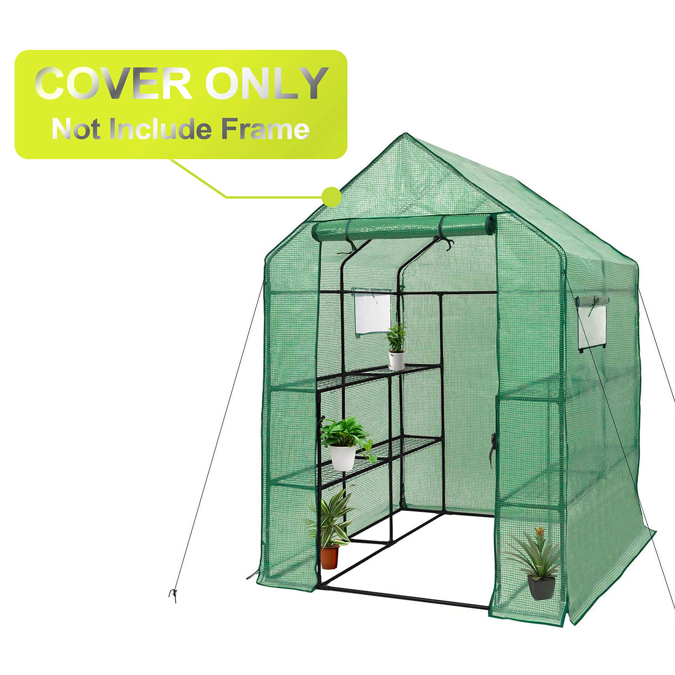 Greenhouse Replacement Cover-56'' W x 56'' D x 77'' H by Gosunny