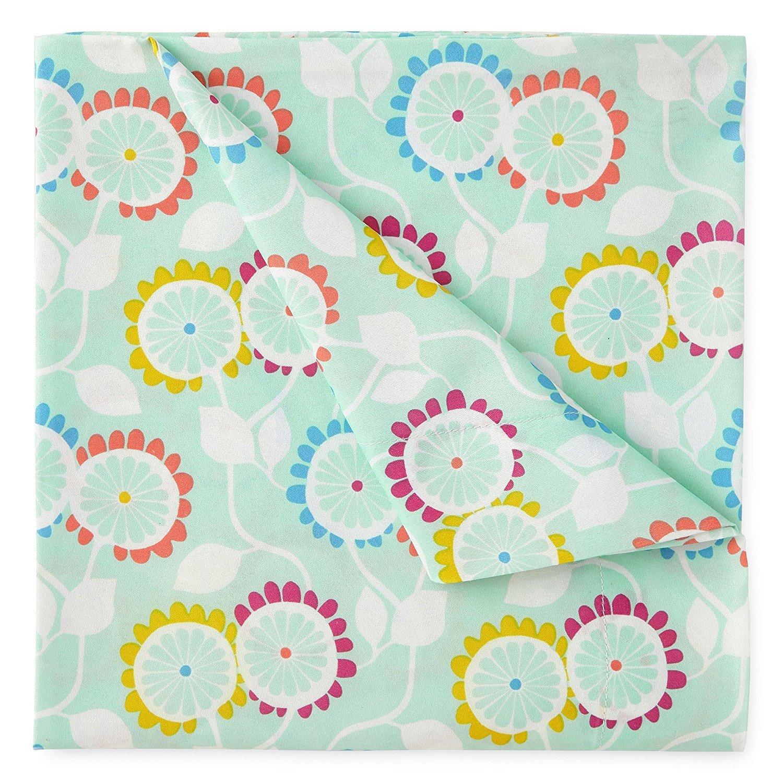 Kute Kids Super Soft Sheet Set - Aubrianna Mint Floral - Brushed Microfiber for extra comfort
