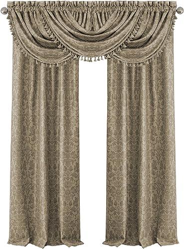 Elrene Home Fashions 20862ELR Antonia Blackout Rod Pocket/Back Tab Window Curtain Panel,Taupe,52″ X 108