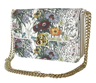 b4a4b645c353 Tory Burch Duet Melody Floral MINI Shoulder Leather Women's Handbag ...
