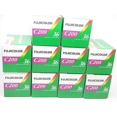 FujiFilm–C200–35mm Film (Colour, 36Exposures, Pack of 10)