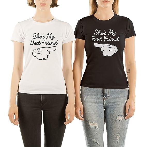 VivaMake Pack 2 Camisetas de Mujer Originales para Mejores Amigas con Diseño My Best Friend: Amazon.es: Ropa y accesorios