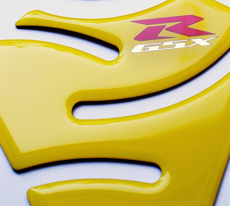 RZ Moto Glossy Yellow Motorcycle Tank Protector Pad for Suzuki GSX-R GSXR GSX R 1000 750 600