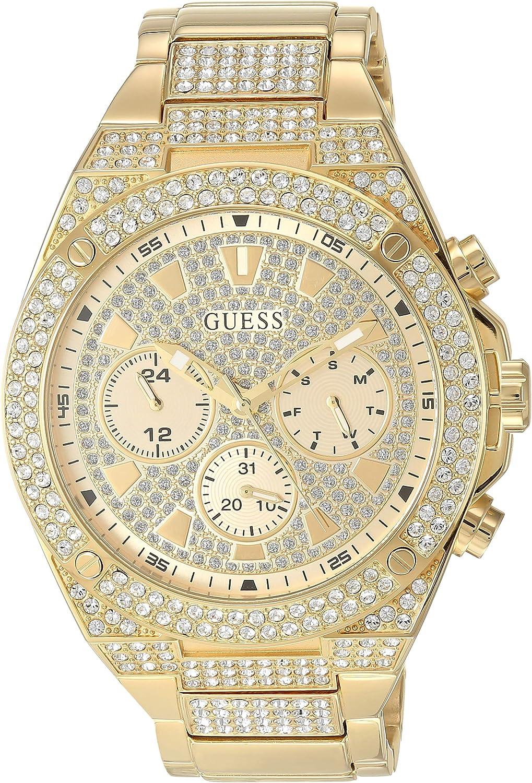 GUESS Reloj DE Pulsera Caballero con C.Swarovski GW0059G2: Amazon.es: Relojes