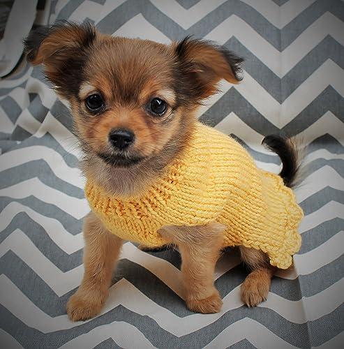 Amazoncom Tiny Hand Knit Dogpuppy Sweater For 2 Lbs Xxxsxxs