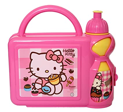 Image Unavailable. Image not available for. Colour  HELLO KITTY GIRLS  SCHOOL LUNCH BOX ... 369f92ee78b24