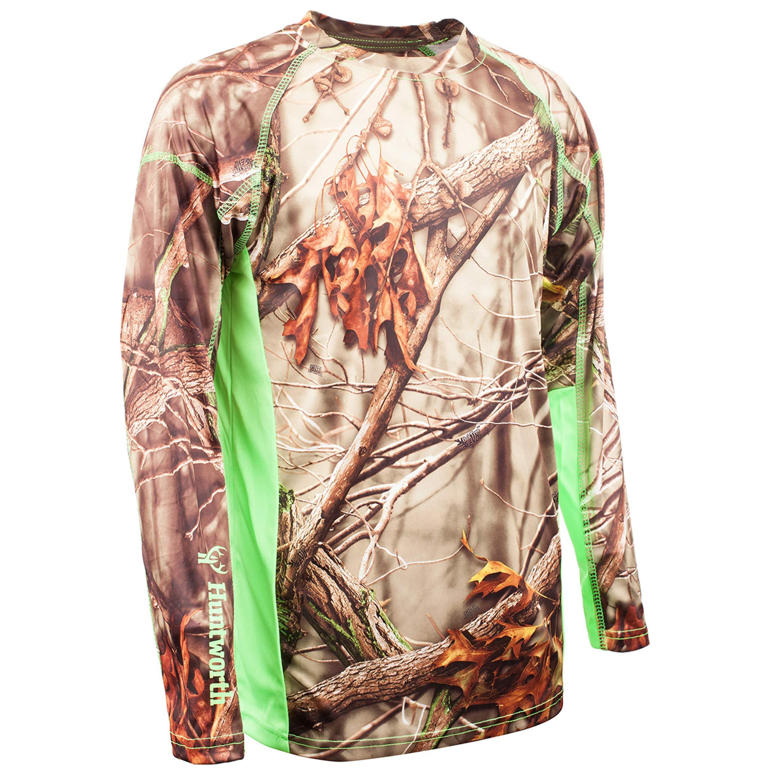 Huntworth Boys Long Sleeve Shirt, Oak Tree EVO,Small by Huntworth