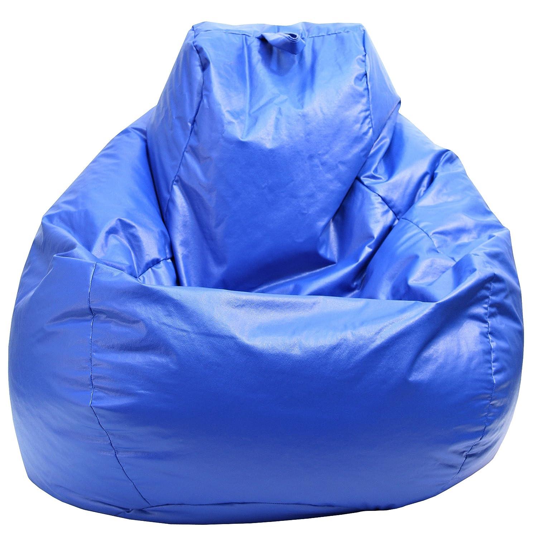 Gold Medal Bean Bags 30011209804TD Large Wet Look Vinyl Tear Drop Bean Bag, Blue Hudson Beanbags