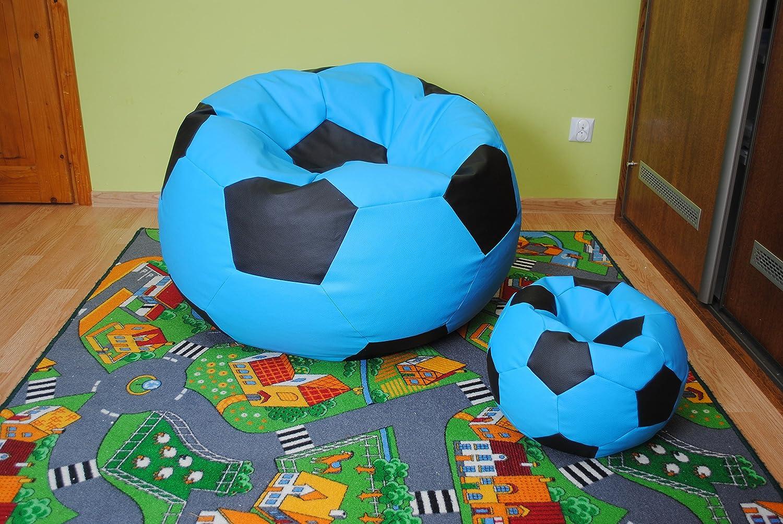 Juego de 2 puf con diseño de balón de fútbol, tamaño XXL de 100 cm ...