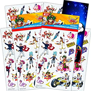 Yu-Gi-Oh! Stickers Party Favors Set -- Bundle Includes 8 Sheets of Yu-Gi-Oh! Stickers with Bonus Door Hanger (Yu-Gi-Oh! Party Favors)