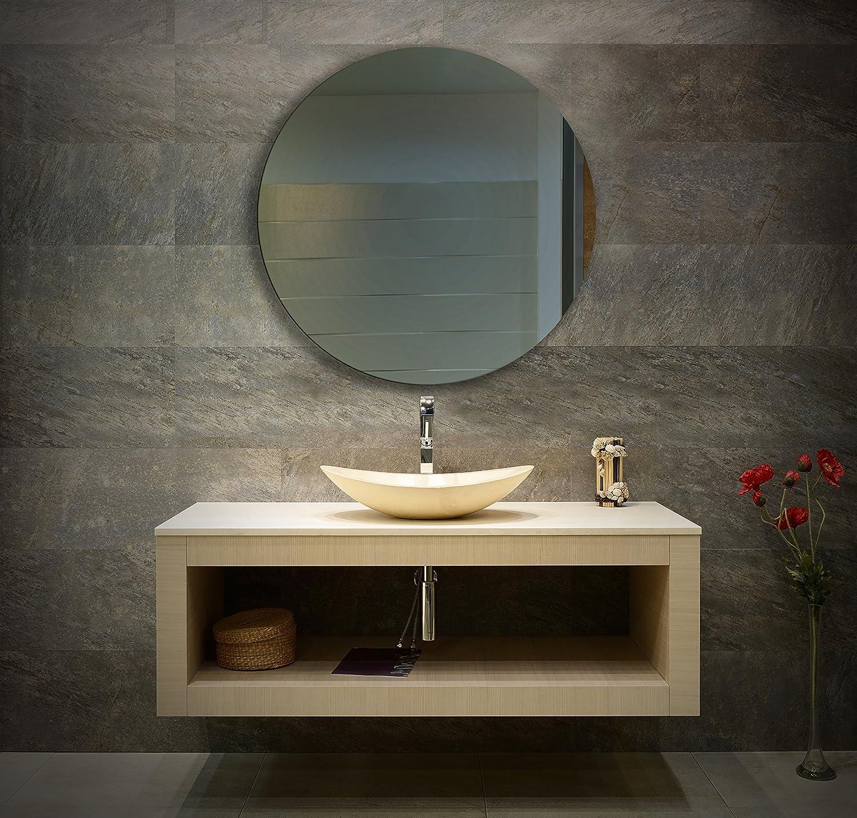 Ramix Rund Spiegel, Rahmenloser, Spiegelfliese, Wandspiegel, Badspiegel, Zimmer, Größe    70 cm Durchmesser fdf3bd