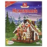 Weiss Lebkuchen Hexenhaus mit Haribo Deko inkl. Puderzucker, 900 g