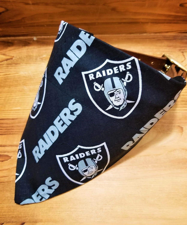 Oakland Raiders black Pet No-Tie Dog Bandana