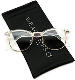 4bbc021b7809 Amazon.com  Vintage Inspired Classic Half Frame Horn Rimmed Clear ...