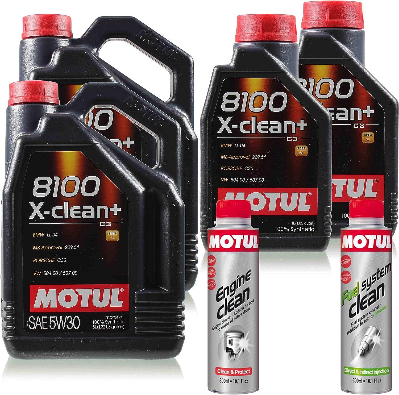 12l Motul 8100 X Clean 5w 30 Öl Motoröl Engine Clean Fuel System 11265748 Auto
