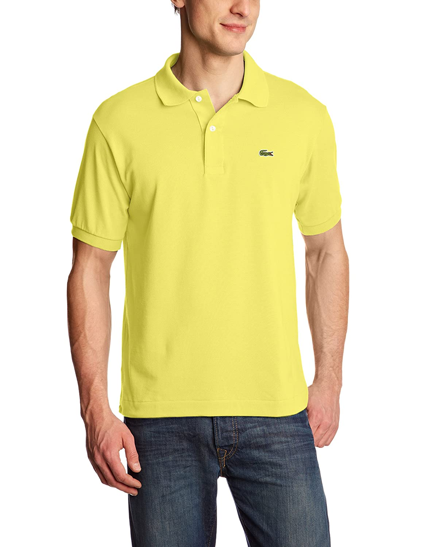 Lacoste ラコステMen's L-1212,半袖 鹿の子 ポロシャツ(並行輸入品) B01N2UKNM5 3 / S|Yellow (Daphne) Yellow (Daphne) 3 / S