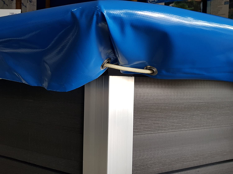 Cubierta de invierno piscina ovalada Composite 580 g/msup2;
