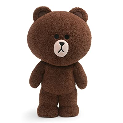 "GUND LINE Friends Brown Standing Plush Stuffed Animal Bear, Brown, 14"": Toys & Games"