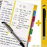 CleverPL Divider Sticky Notes,60 Ruled Notes per Pack,4 x 6 Inches,Assorted Neon Colors,2 Pack