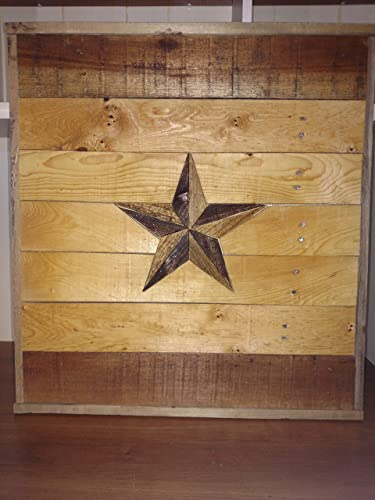 Amazoncom Rustic Texas Lone Star Wood Wall Decor Made With