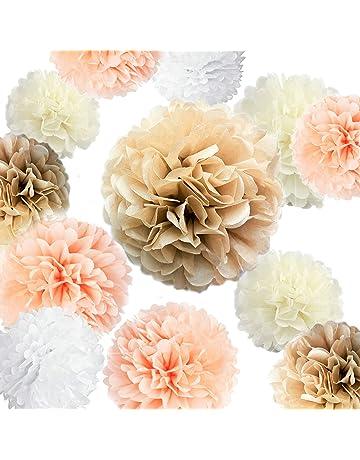 Amazon Com Tissue Pom Poms Home Kitchen
