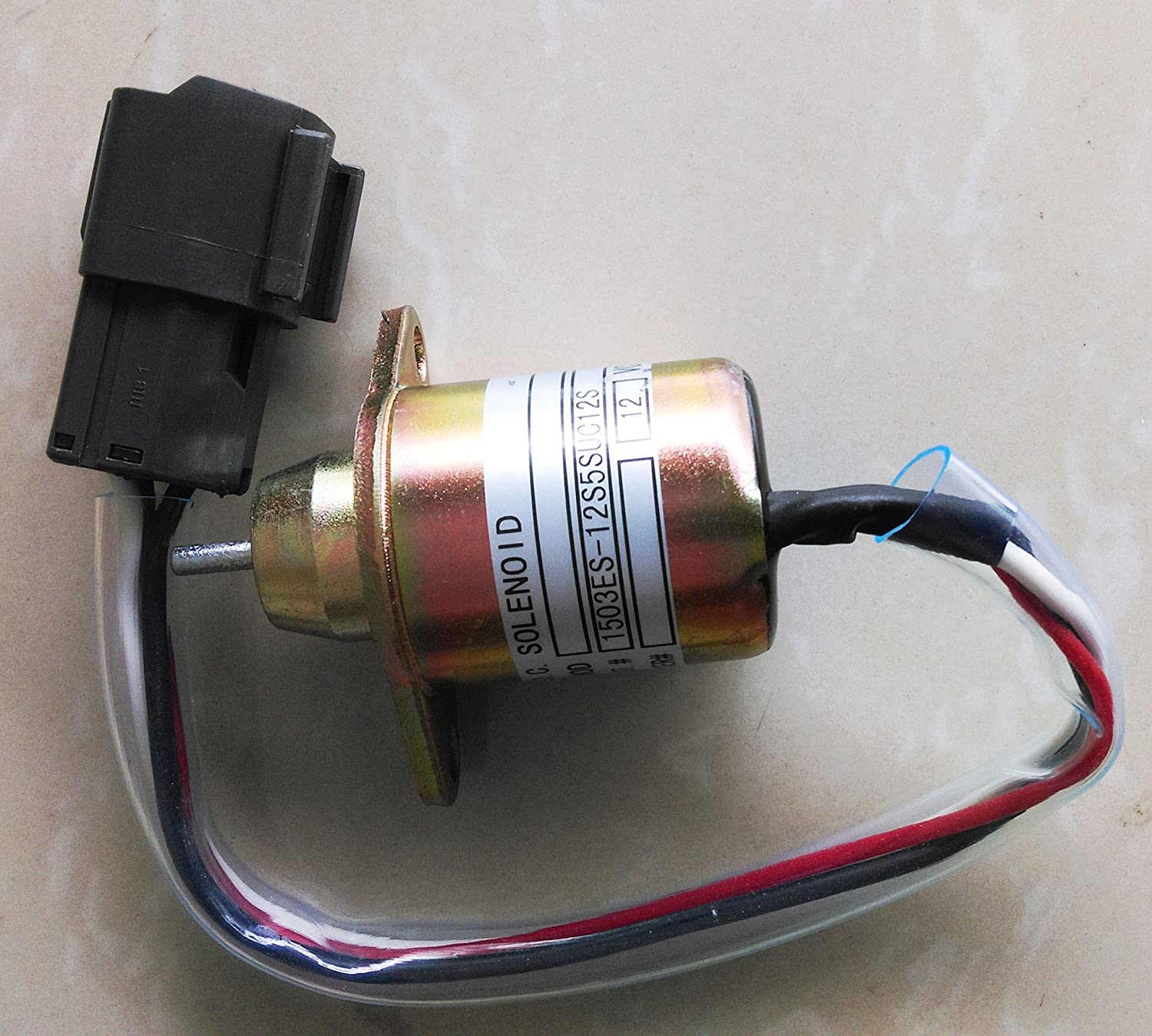 Blueview 12V Shut off solenoid 1503ES-12S5SUC12S for YANMAR engine Komatsu PC40, PC45 and other machinery
