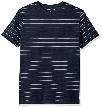 73b109df5c Amazon.com: Nautica Short Sleeve Striped Crew Neck T-Shirt: Clothing