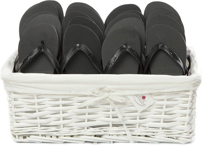 80f97eac8 Zohula Flip Flops Wedding Baskets - 20 Pairs  Sx10  Mx10  - Choice of  Colours (Black)  Amazon.co.uk  Shoes   Bags