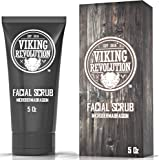 Viking Revolution Microdermabrasion Face Scrub for Men - Facial Cleanser for Skin Exfoliating, Deep Cleansing, Removing…